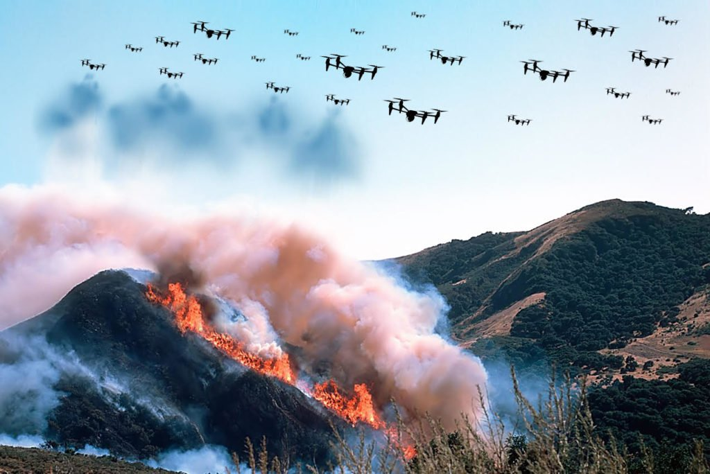 Firefighting Drones Could be the Solution for Dixie Fire
